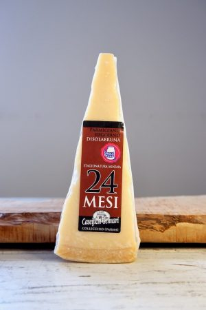 Parmezaan van bruine koeien, Parmigiano Reggiano di vacche brune productafbeelding