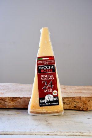 Parmigiano Reggiano di vacche rosse, Parmezaanse kaas van rode koeien